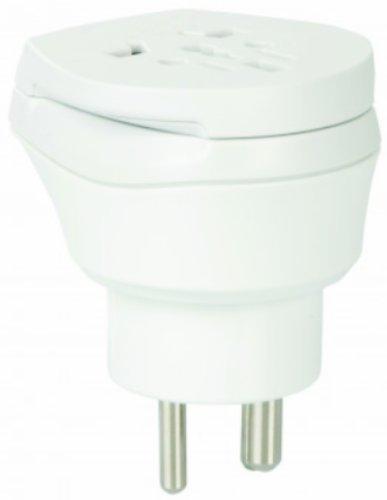 2 x Reiseadapter - Welt Kombi Reisestecker Stromadapter SET - Adapter für Georgien auf Grönland für Steckdosen mit Schukostecker, Euro, 2 pol und 3 polige Strom Netz Stecker - GL-GE Ge Outdoor-adapter