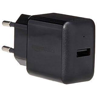 AmazonBasics - USB-Ladeadapter mit 1 Anschluss (2,4 Ampere) - Schwarz