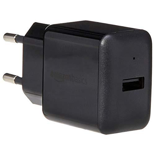 4a Netzteil (AmazonBasics - USB-Ladeadapter mit 1 Anschluss (2,4 Ampere) - Schwarz)