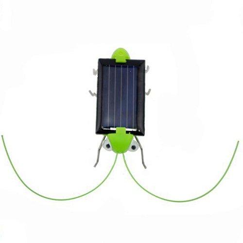 Gfjhgkyu Nette und lustige Elektrische Kreative Spaß Sonnenenergie Roboter Insekten Heuschrecken Heuschrecke Scherzt Pädagogisches Spielzeug