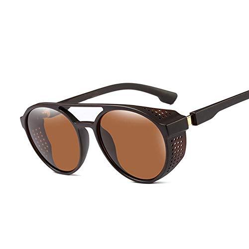 ZHOUYF Sonnenbrille Fahrerbrille Sonnenbrille Damen Herren Retro Brille Runde Flip Brille Retro Fashion Brille, B