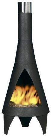 OXFORDLEISURE (free cover) LA HACIENDA 125cm HIGH BLACK STEEL COLORADO CHIMINEA PATIO HEATER