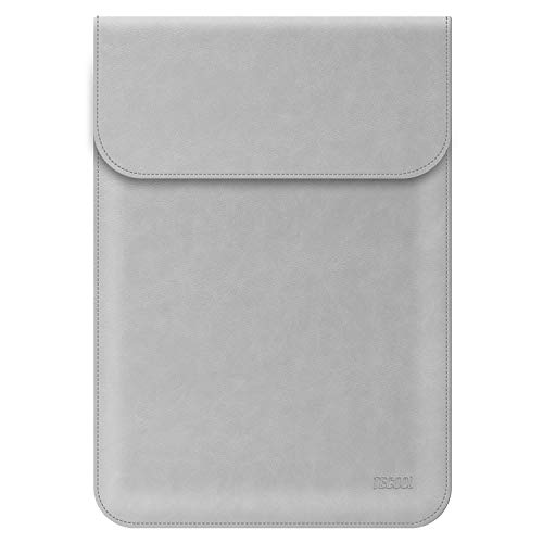 TECOOL 12.5-13 Zoll Laptop Hülle Kunstleder, Laptop Schutzhülle Case Tasche Sleeve für 2018 MacBook Air 13 A1932 / 2016-2019 MacBook Pro 13 mit & ohne Touch Bar (A1706/ A1708/ A1989/ A2159) - Grau