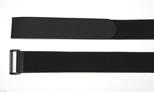 Stück schwarz Haken- und-Loop Original Velcro® Klettverschluss, Kabelbinder mit Schnalle in Schwarz 2cm breit x 30cm Lang inkl. 50Träger