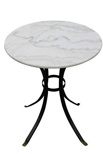 Weißer Bistrotisch mit Marmortischplatte ? für den Einsatz Zuhause oder in Geschäftsräumen...