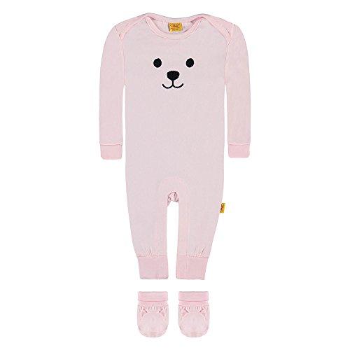 Steiff Baby-Mädchen 2tlg. Set Strampler 1/1 Arm + Shoes, Rosa (Barely Pink 2560), 50