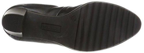 Nero Leather Donna Scarpe Black Tacco 22417 con Tamaris qxXw6FBF