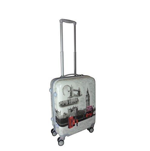 Valigia di cabina 4ruote in policarbonato, londra big ben rigida