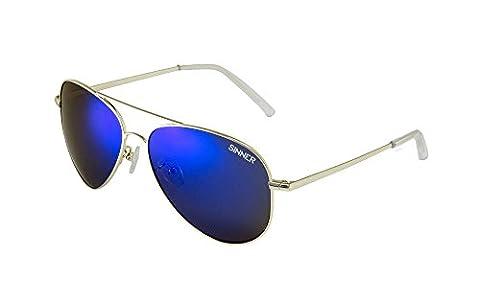 Sinner MORIN Polycarbonate Aviator Sunglasses, Gold Metal, SISU, 723, 80, 48