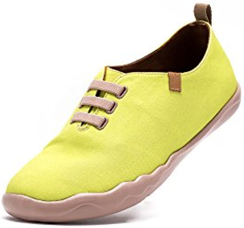 UIN Amarillo claro Zapato de lona impresa amarillo para los hombres