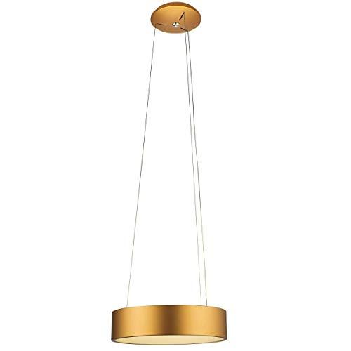 Suspension design LED EPSILON dorée en métal