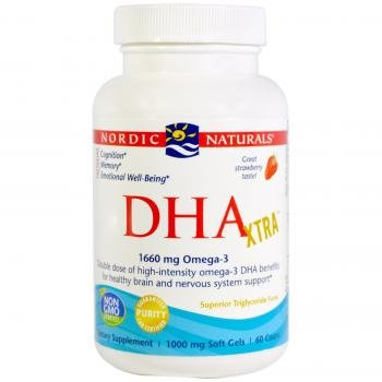 DHA 1000, Strawberry Flavour, 1000 mg, 60 Softgels