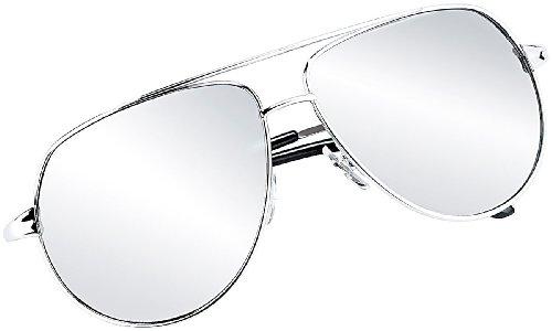 Preisvergleich Produktbild PEARL Pilotenbrille: Verspiegelte Sonnenbrille im legendären Piloten-Style (UV-400) (Retro-Sonnenbrille)