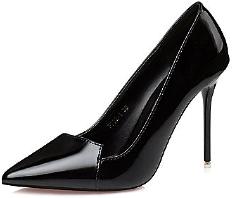 RTRY La Mujer Vestido Comfortfall Tacones Stiletto Talón Luz Rosa Púrpura Gris Negro Beige 4A-4 3/4En Negro Us6.5...