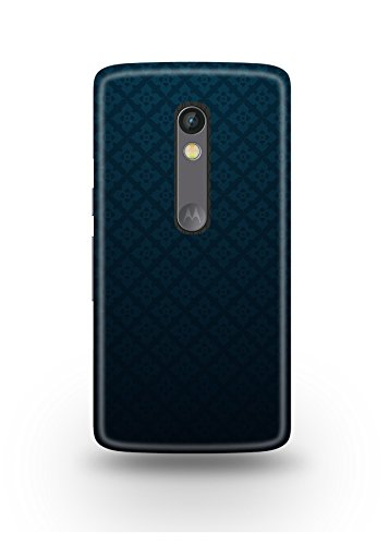 Moto X Play Cover,Moto X Play Case,Moto X Play Back Cover,Dark Blue Pattern Moto X Play Mobile Cover By The Shopmetro-12208