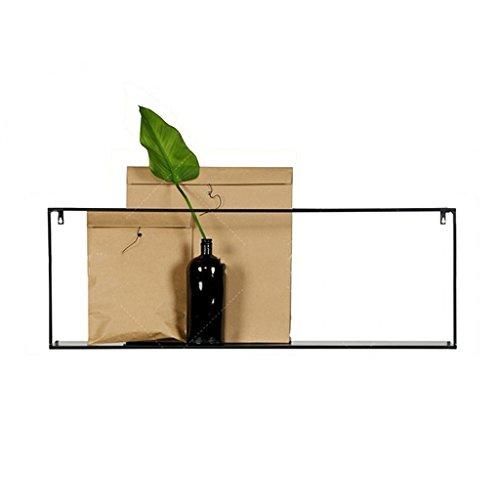 Anzeigen Taos (Lagerregal, einfache moderne Art-Eisen-Kunst-Regal-Wand-hängender Speicher auf dem Wand-Anzeigen-Ausstellungsstand ( Farbe : Schwarz ))