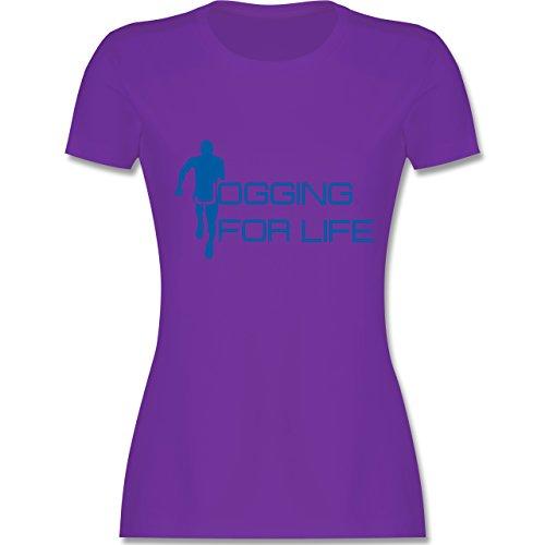 Laufsport - Jogging for Life - tailliertes Premium T-Shirt mit Rundhalsausschnitt für Damen Lila
