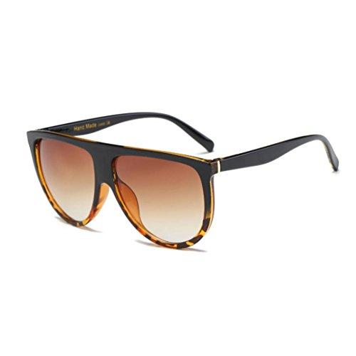 gafas de sol hombre Sannysis gafas de sol mujer polarizadas Aviador Unisex gafas de sol vintage sunglasses retro de verano de viaje (café)