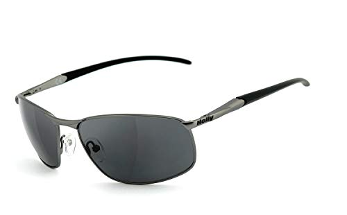 Helly® - No.1 Bikereyes® | Flex-Scharnier,UV400 Schutzfilter, HLT® Kunststoff-Sicherheitsglas nach DIN EN 166 | Bikerbrille, Sonnenbrille | Brillengestell: grau matt, Brille: 620g