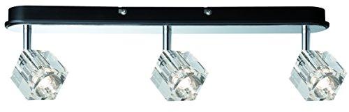 Paulmann Leuchten Spotlights Ice Cube LED Balken 3 x 3 W, 230 V Metall Glas, chrom 60168