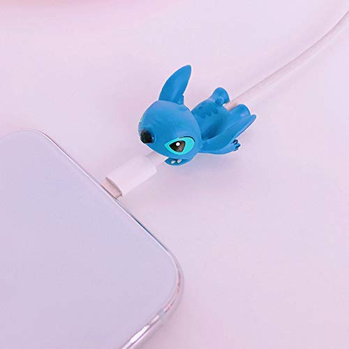 Danapp Fashion Creative Cartoon Tier Sesamstraße Rose Red Cat Anti-Brech Data Line Protection Wickler, 1, Stitch, 1 -