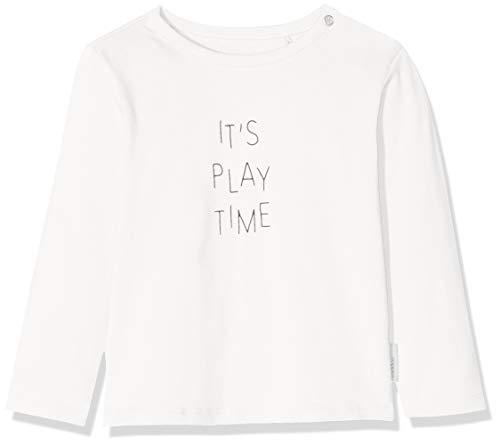 Noppies Unisex Baby U Tee Slim ls Quibor T-Shirt, Elfenbein De Blanc P002, (Herstellergröße: 80) -