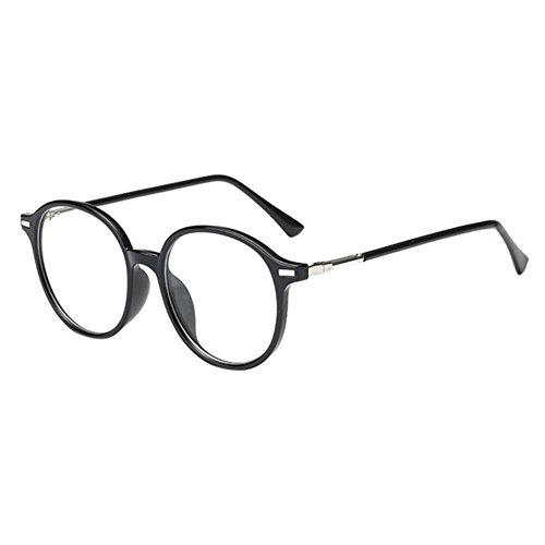 Hzjundasi Schwarz Farbe Runden Rahmen Kurzsicht Brillen Kurzsichtig Kurzsichtigkeit Myopia Brille CR-39 Harz Linse -1.0~-6.0 mit Brille Box (Diese sind nicht Lesen Brille)