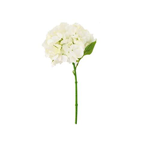 QDR Artificial Flowers and Plants/Mit Topf/Klein/Rose/Farn/BlüTen, Mit TöPfen Tischdeko Haus Balkon BüRo Deko,White -
