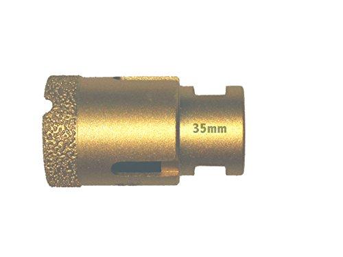 Diamant Bohrkrone 35mm M14 Gewinde für Winkelschleifer - Fliesenbohrkrone, Vakuum verarbeitet, Fliesenbohrer, Hohlbohrkrone.