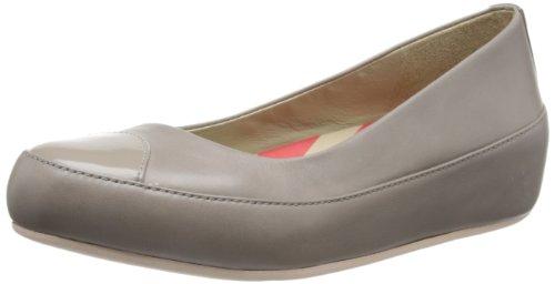 Fitflop Due Leather, Damen Ballerinas Beige (Mink)