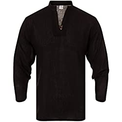 ThaiUK - Camisa casual - para hombre negro negro Large