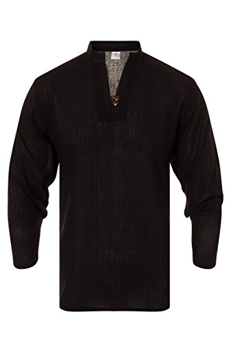 ThaiUK Herren Freizeit-Hemd mehrfarbig mehrfarbig One size Schwarz