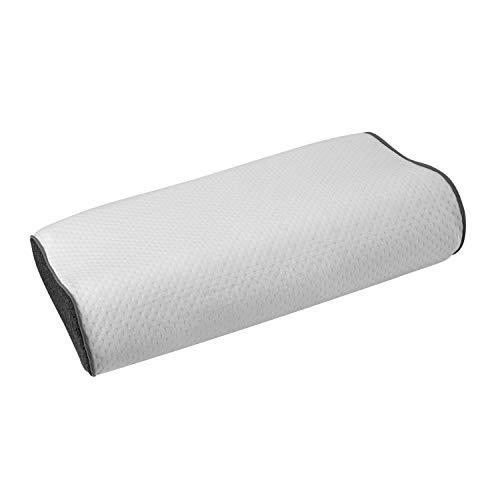 Contour Memory Kissen (ABAKUHAUS Konturkurve Memory Foam, Contour Kissen Ideale Festigkeit für Wirbelsäulenstellung Gesundes Schlafen gegen Migräne und Schnarchen Schlafqualität, 37 cm X 58 cm X 14 cm, Grey and White)