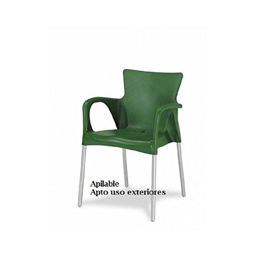 sillon-polipropileno-y-aluminio-en-color-verde