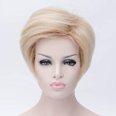 HJL-¨¤ double couleur des perruques de cheveux de la mode hommes , beige blonde