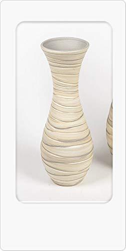 Formano Dekorative Bodenvase 40cm Serie Creme - Relief