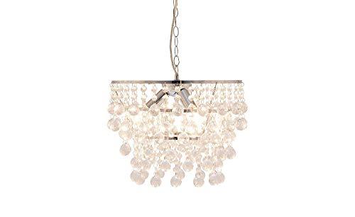 LED Dedroom Pendelleuchte Metall polieren Glas Kleiderbügel Tag Laterne Chrom hohe Transmission Anhänger 3 * 40W moderne Beleuchtung - Chrom Poliert-kleiderbügel