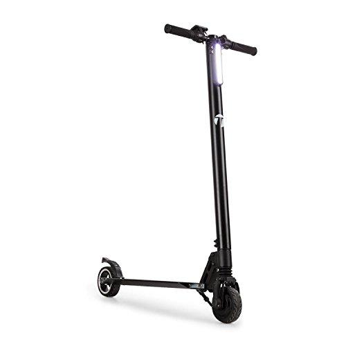 Takira • eScooter • Trottinette électrique Pliable • 22 km/h • Autonomie 28 km • 5 Vitesses • Double Frein • Phare LED • Recharge Rapide 250 W • 120 kg • Aluminium • Noir