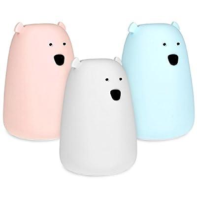 Navaris LED Nachtlicht unterschiedliche Designs - mit Micro USB Kabel - Süße RGB Farbwechsel Kinder Nachttischlampe - Kinderzimmer Schlummerlicht