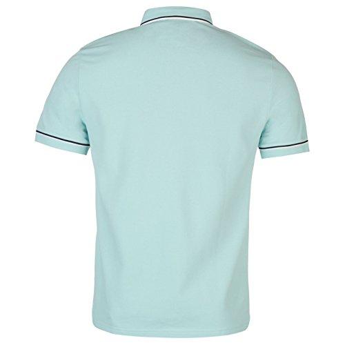 Penguin Herren Gusta Polo Shirt Leicht Freizeit Kurzarm Polohemd Baumwolle Crystal Blau