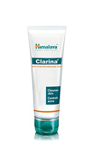 Himalaya Clarina Anti-Acne Face Wash Gel Cleanses Skin Controls Acne 60ml *Ship from UK