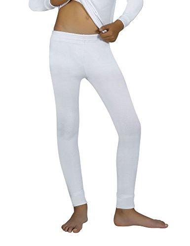 Ysabel Mora Kids Thermal Pants White in size 8 Years