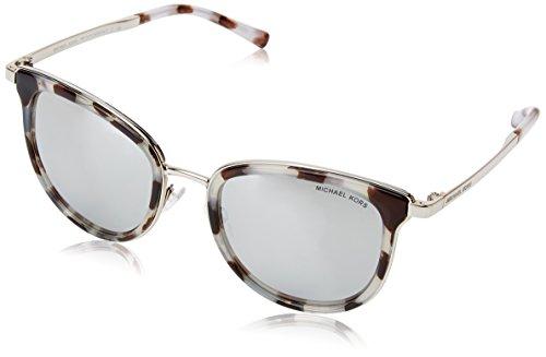 Michael Kors Damen ADRIANNA I 11986G 54 Sonnenbrille, Snow Leopard/Silver-Tone/Silvermirror,