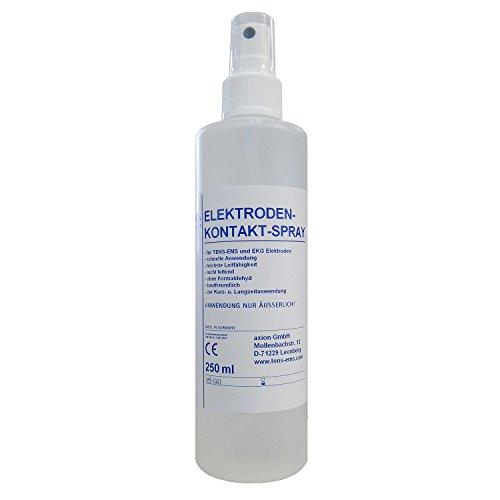 Spray limpieza y contacto Electroestimulación- Para el uso de electrodos TENS EMS (250 ml) - Alarga la vida de los parches - Calidad axion