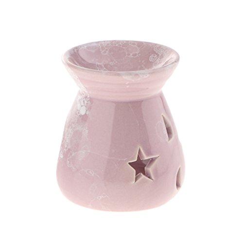 Fenteer Keramik Duftölbrenner Aromalampe Duftöl Aroma Brenner zur Entspannung - Helles Lila
