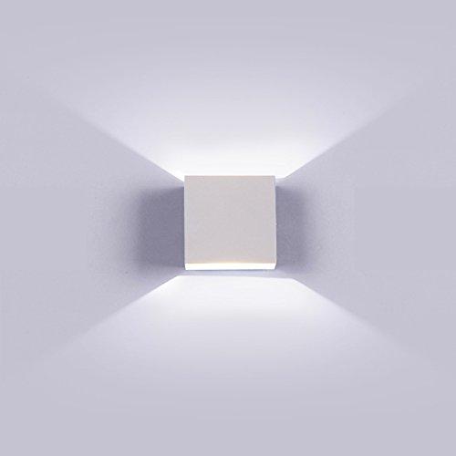 K-bright applique a led per esterni, lampada da parete cubo design moderno ip65, 220v, lampada da parete per interni bianca 4000k-4500k natraul, design su e giù, illuminazione per la casa, bianco