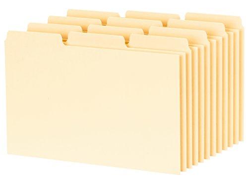 Oxford Karteikarte Guides mit blanko Taben, 10,2x 15,2cm, 1/3Cut Taben, Manila, 100Pro Box (413BUF) (Card Box Rezept)