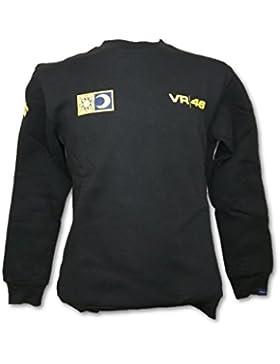 MotoGP Valentino Rossi VR46felpa girocollo nero da uomo, Uomo, Black, XL