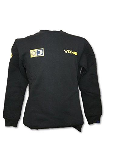 Valentino Rossi MotoGP VR46Herren Schwarz Rundhalsausschnitt Sweatshirt Medium schwarz