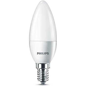 Philips bombilla LED Vela E14, 5.5 W equivalentes a 40 W en incandescencia, luz